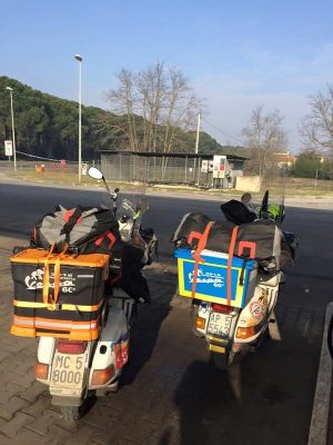 Riccardo Lombardelli In Viaggio Verso Solla In Germania Elefantreffen 2016